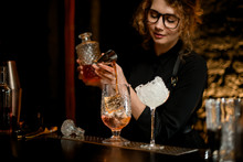Beauty Young Female Bartender ...