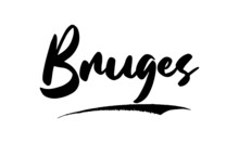 Bruges Calligraphy Handwritten Lettering For Sale Banners, Flyers, Brochures And  Graphic Design Templates