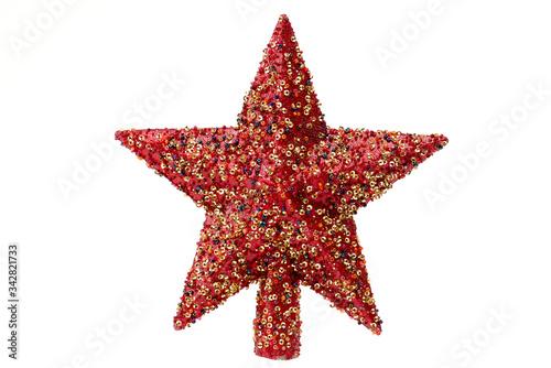 Decoración de navidad de estrella roja moderna Wallpaper Mural