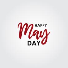 Happy May Day Logo Vector Temp...