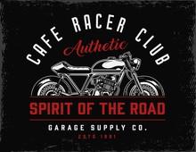 Cafe Racer Club Vintage Badge