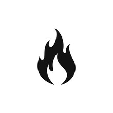 Flame Icon Logo Flat Vector Il...