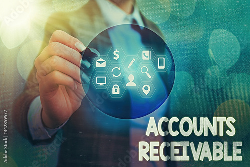 Writing note showing Accounts Receivable Canvas-taulu