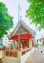 Ornate Pavilion Of Somdet Phra Chao Taksin Shrine, Bangkok, Thailand