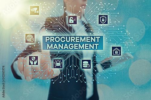 Fototapeta Writing note showing Procurement Management