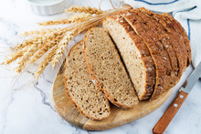 Wholegrain Rye Bread With Glas...