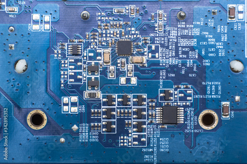 detail pcb video card Canvas Print