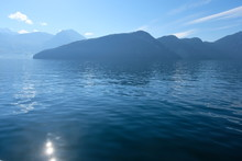 Calm Waters Of Lake Lucerne In...