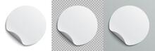 Set Circle Adhesive Symbols. W...