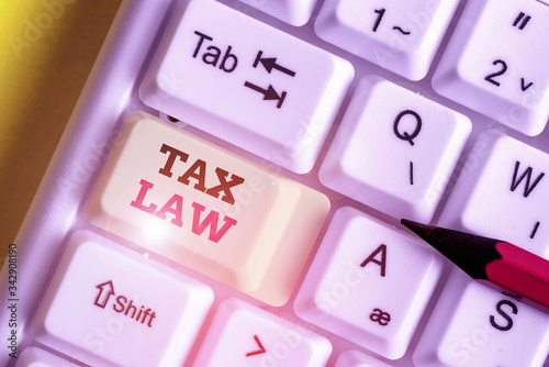 Handwriting text Tax Law Canvas Print