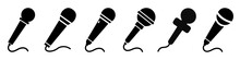 Set Microphone Icon Sign – S...