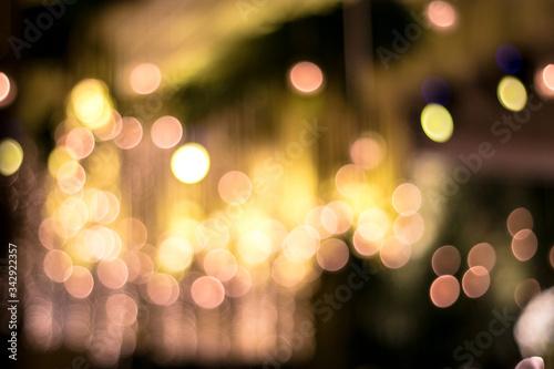 Efecto bokeh en luces Canvas Print