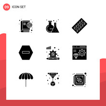 9 User Interface Solid Glyph P...