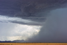 Storm Clouds With Microburst A...