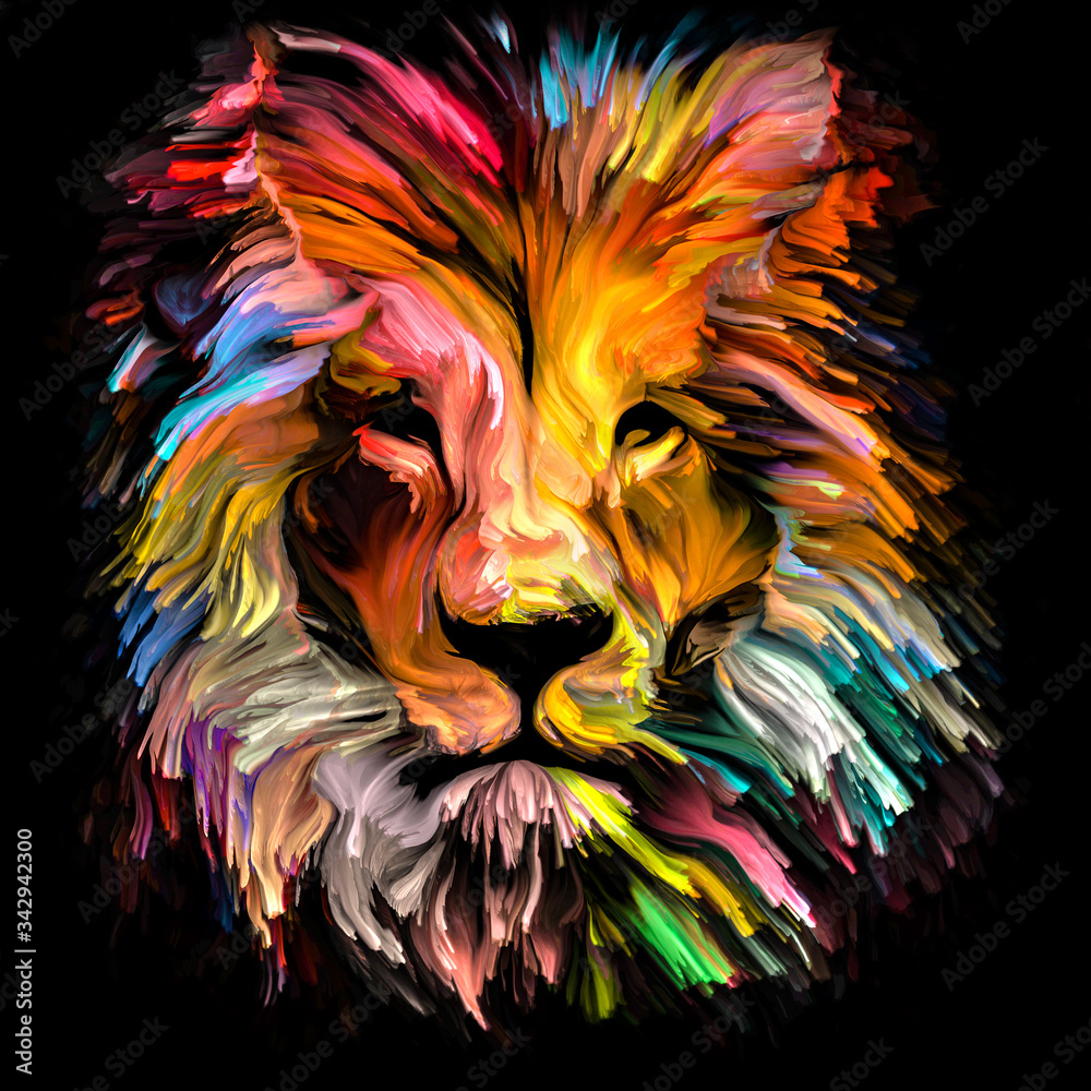 Fototapeta Spectrum Lion