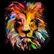 canvas print picture - Spectrum Lion
