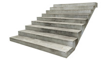 Wide Concrete Staircase. On Wh...