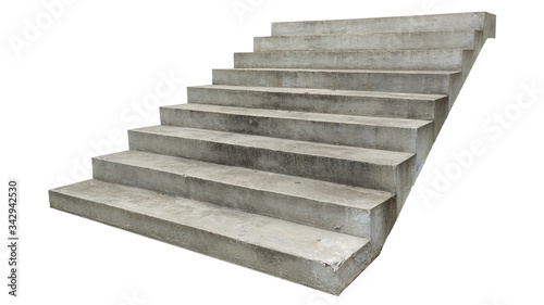 wide concrete staircase. on white background