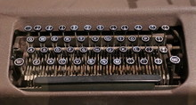 The Keys On The Old And Antique Identification Tag Embossing Machine