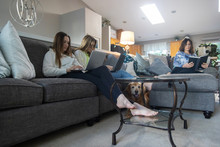 Mother And Two Daughters Readi...