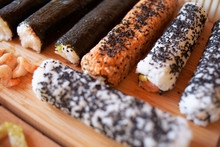 Ready-made Sushi Not Cut Are W...