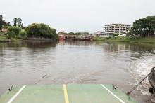 Three Boats Crashed Into The Carmelo Swing Bridge, In Las Vacas Stream