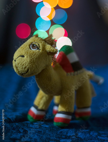 toy camel with beautiful bokeh