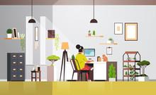 Woman Freelancer Using Compute...
