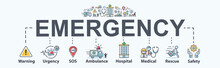 Emergency Banner Web Icon For ...