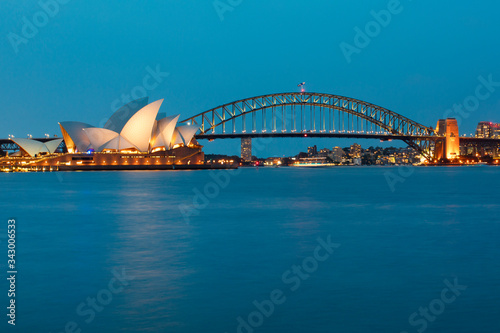 Sydney Skyline opera house and bridge