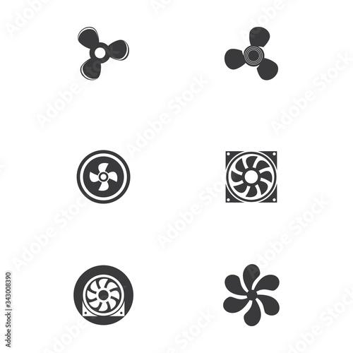 Fototapeta Fan vector illustration icon Template