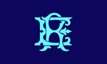 Alphabet R And E Logo Couple N...
