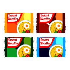 instant noodles pack images vector