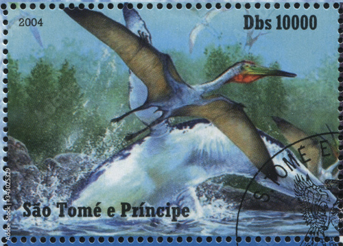 Tela RUSSIA KALININGRAD, 28 MARCH 2019: stamp printed by Sao Tome and Principe shows