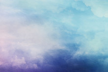 Abstract Pastel Clouds And Sky...