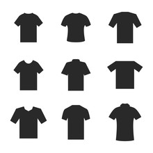 Set Of Different T-shirts, Vec...
