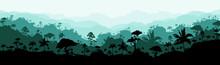 Jungle Flat Color Vector Illus...
