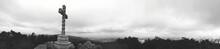 Panoramic View Of Cross Agains...