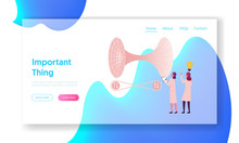 Contemporary Science Development, Scientific Research Landing Page Template.Tiny Female Scientists Characters Solve Quantum Mechanics Theory And Tunneling Formulas. Cartoon People Vector Illustration