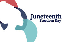 Juneteenth, Freedom Day. June 19. Holiday Concept. Template For Background, Banner, Card, Poster With Text Inscription. Vector EPS10 Illustration. .