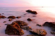 Bahia Honda Beach At Sunset, F...