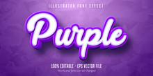 3d Purple Editable Text Effect