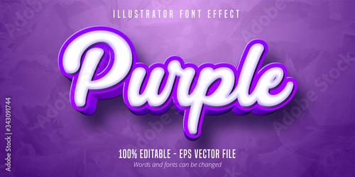 Obraz 3d purple editable text effect - fototapety do salonu