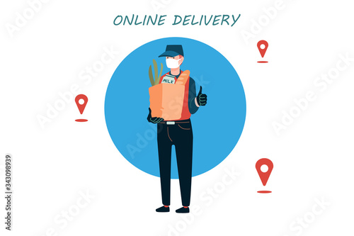 Poster concept for home delivery Wallpaper Mural