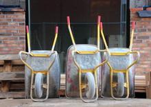 Wheelbarrows At Construction Site