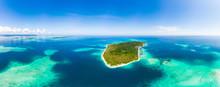 Aerial: Exotic Tropical Island...
