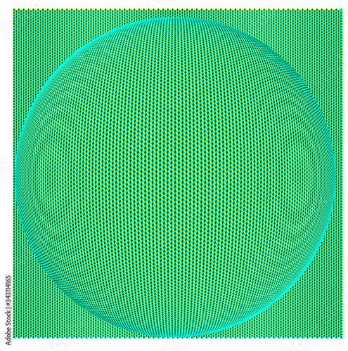 Fotografija Paving of hexagons deformed by a ball