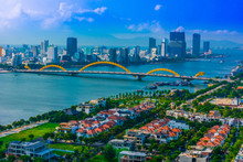 View Of Da Nang City In South Central Coast Of Vietnam