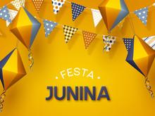 Festa Junina Holiday Banner. B...