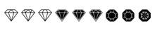 Diamond Brilliant. Vector Icon...